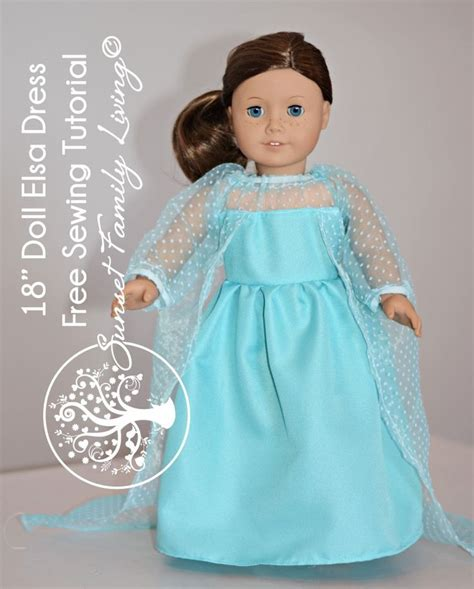 sewing pattern elsa dress sew an elsa dress for an 18 quot doll free sewing pattern