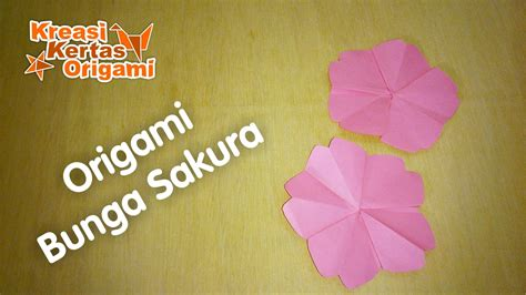 tutorial origami bunga mudah cara mudah membuat bunga sakura dari kertas origami youtube