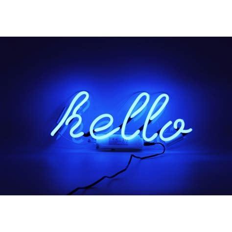 hello lights neon hello wall light hurn and hurn