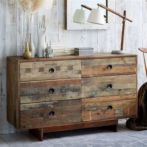 alden reclaimed wood wide dresser pottery barn