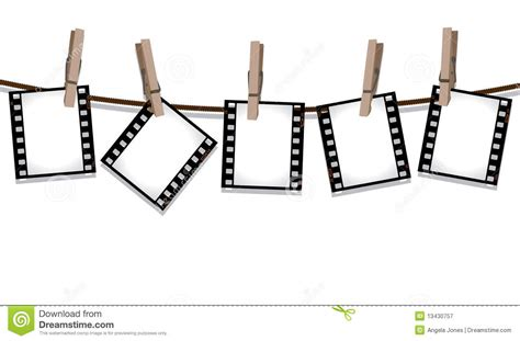 photo hanger film strips hanging out to dry stock illustration