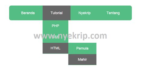 membuat menu html css cara membuat menu dropdown sederhana nyekrip