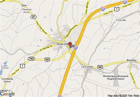 comfort inn south hill va map of comfort inn south hill south hill