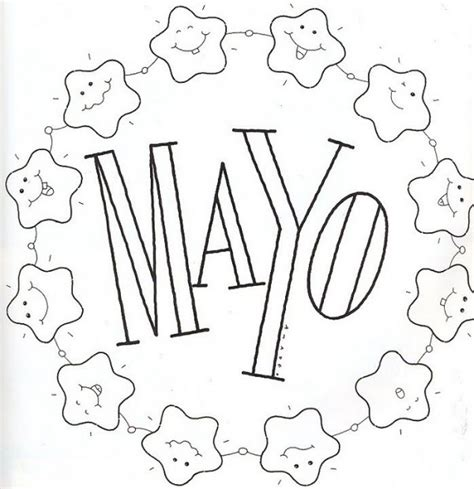 imagenes del 5 de mayo para colorear carteles del mes de mayo para imprimir y colorear
