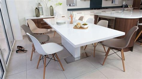 20 best collection of white gloss extendable dining tables