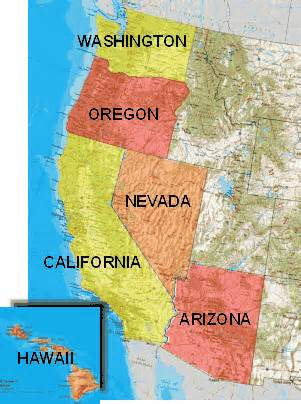 map of oregon and nevada deleted map of hawaii and california