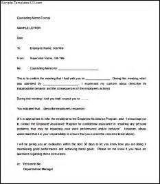 counseling memo template disciplinary letter of counseling memo sle sle