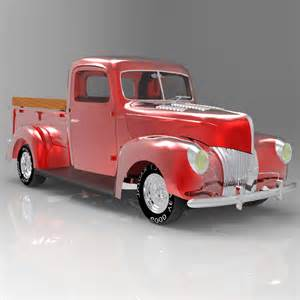 40 Ford Truck 40 Ford 3d Model Max Cgtrader