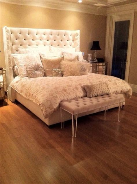 faux fur bed home accessory chic white bedding faux fur decorative pillows bedsidetable