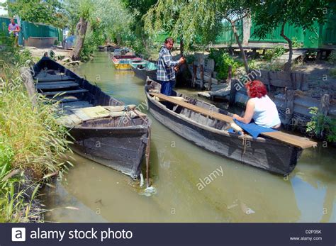 boat building ukraine boat on canal in vilkovo or vylkove also known as