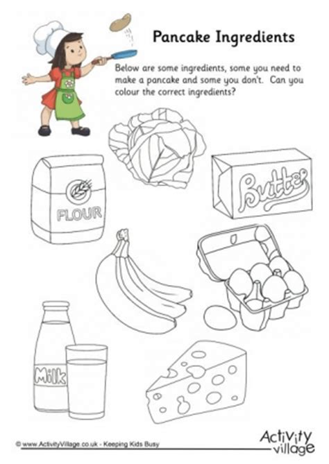 printable pancake recipes mixing bowl colouring page