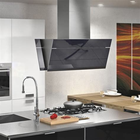 kitchen island vents 36 quot gullwing black island modern range hoods and vents new york by futuro futuro kitchen