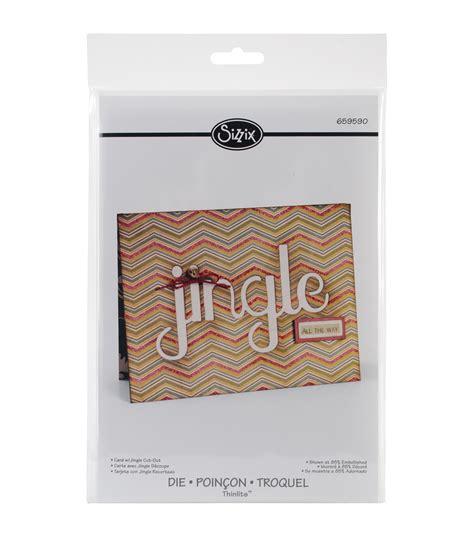 Sizzix Thinlits Dies Die Cut And Arrow Card sizzix thinlits die card w jingle cut out 5 5 quot x8 5 quot jo
