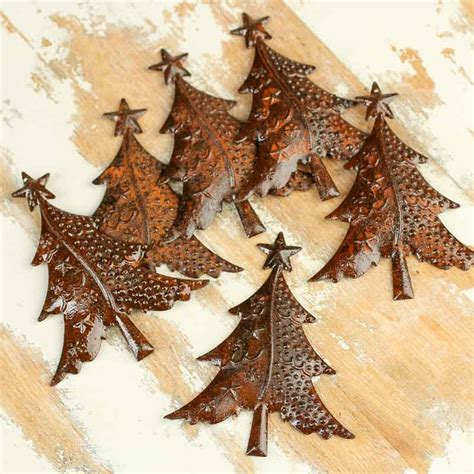 rusty tin christmas trees rusty tin cutouts rusty tin