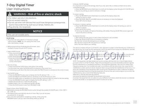 7 user guide 7 owner manual books ge timers 15150 ge 7day digital timer owner s manual