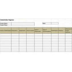 Key Register Template Free by Exle Of A Stakeholder Register And A Stakeholder