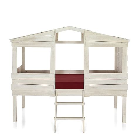 Lit Woody Wood by Lit Cabane 1 Place Blanc Antique 90x200cm Woody Wood
