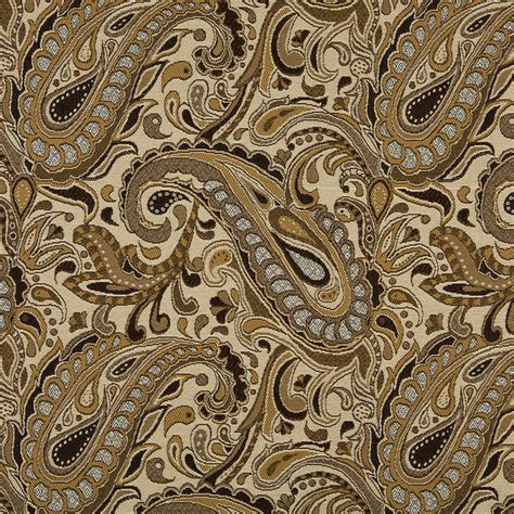 tan upholstery fabric brown beige gold and tan paisley indoor outdoor upholstery