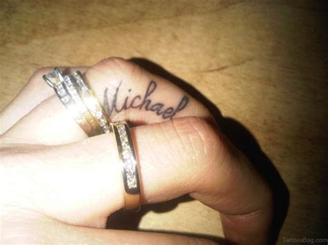 name tattoo designs on finger 60 sweet engagement ring tattoos on fingers