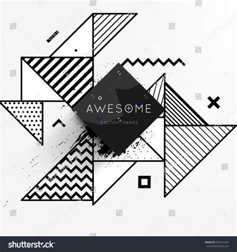 flat pattern stock trendy geometric flat pattern frame abstract stock vector
