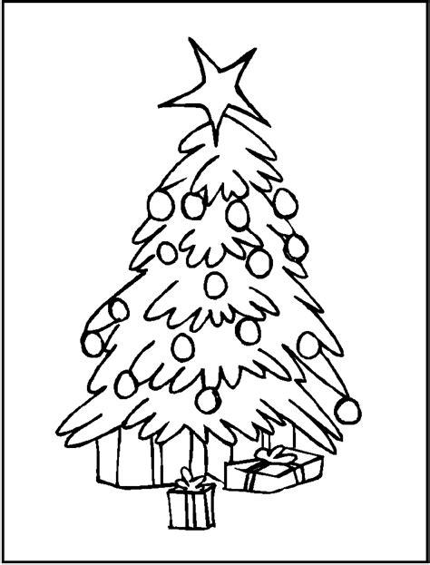 arbol de navidad con regalos para colorear y recortar