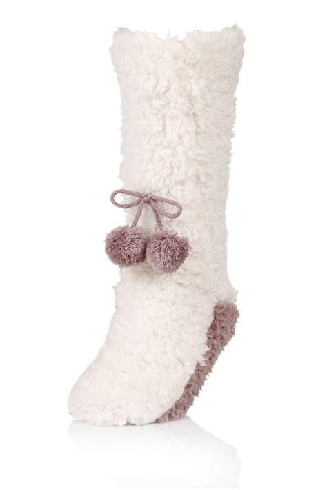 womens fleece slipper socks womens fleece slipper socks ankle boot