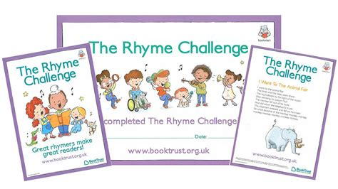 the rhyme challenge booktrust
