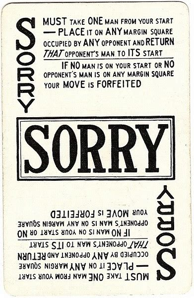 printable sorry instructions sorry game cards www pixshark com images galleries