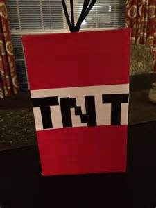 tnt minecraft box used a shoe box duck and