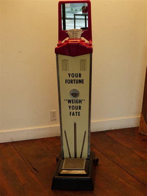 lucky slot weightfortune teller coin op machine  stdibs