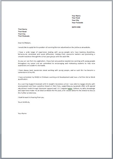 Application Letter Sle Uk Cover Letters Exles Uk The Best Letter Sle