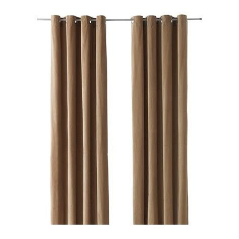 Ikea Velvet Curtains Ikea Sanela Luxurious Beige Cotton Velvet Curtains Drapes 2 Panels 55