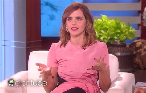 emma watson ellen emma watson quot ellen degeneres show quot beauty and the beast video