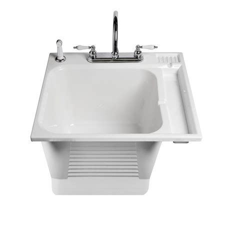 Kitchen Sink Lighting Ideas by Asb 104050 0 White Drop In Plastic Utility Tub Lowe S Canada