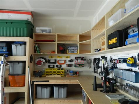 how to build a shop pegboard garage wall storage between diy wood custom