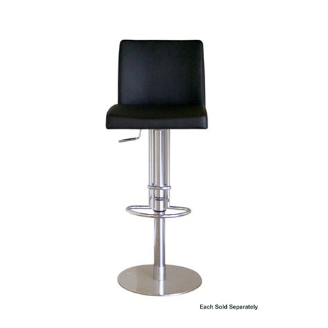wholesale bar stool wholesale interiors marcus leather bar stool black alc 2213b