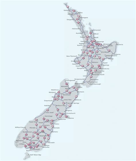 printable maps nz map of new zealand