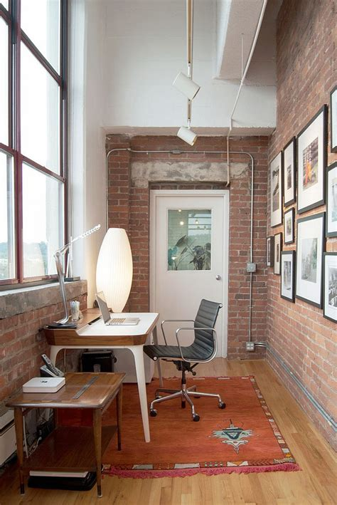 office in the home trendy textural beauty 25 home offices with brick walls