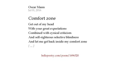 my comfort zone poem comfort zone by oscar mann hello poetry