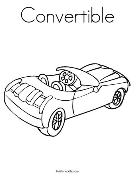 coloring pages of convertible cars convertible coloring page twisty noodle