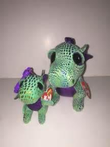 ty cinder dragon 2 beanie amp key clip beanie boos mint tag hand ebay