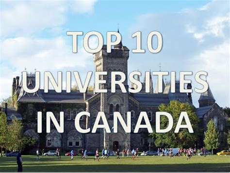 best universities in canada top 10 best universities in canada top 10 universidades en