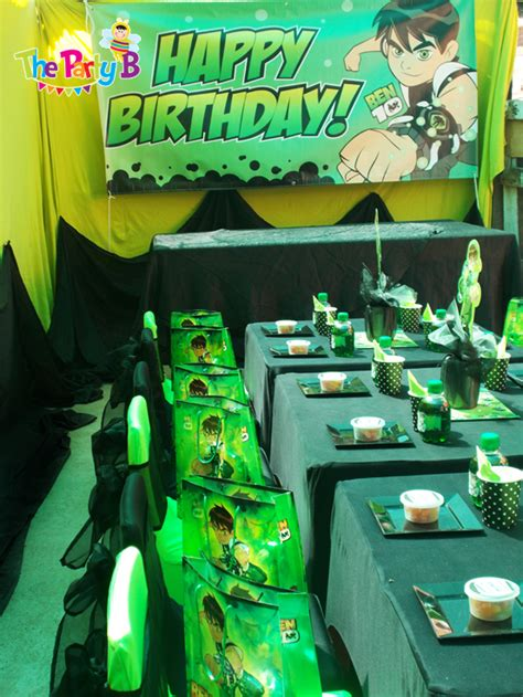 themed party equipment hire ben10 themed party cape town the party b kids party