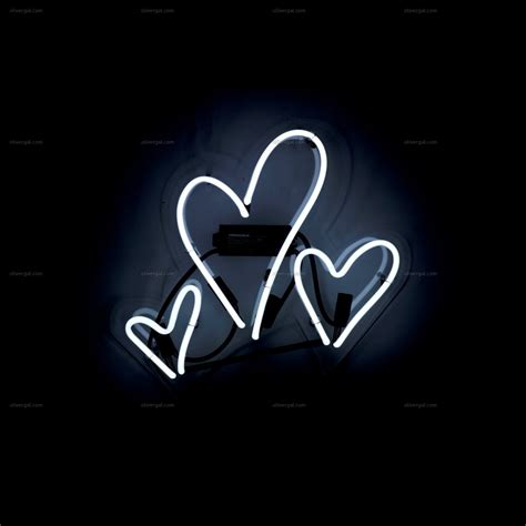 white neon light sign hearts neon sign oliver gal