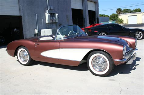 1957 chevrolet corvette convertible call for price 1957 corvette convertible aztec copper fresh body on restoration both tops auto