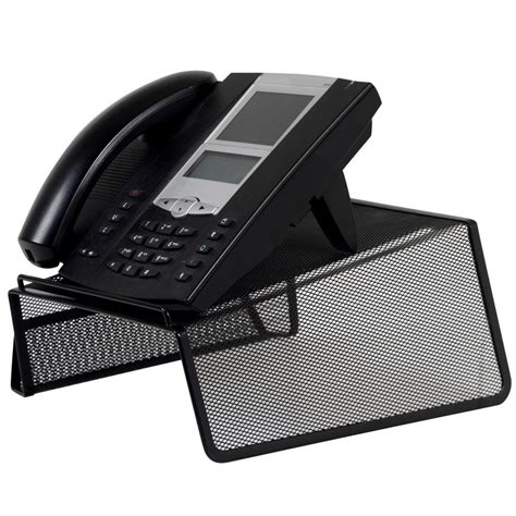 black phone stand holder for telephone desk office home