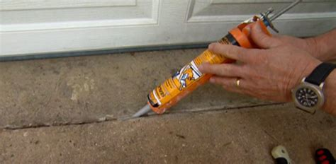 Home Improvement Ideas Bathroom how to caulk and seal cracks in a concrete driveway