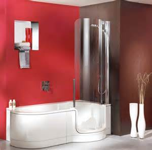 showers for small spaces twinline showers modern tub shower for small space from
