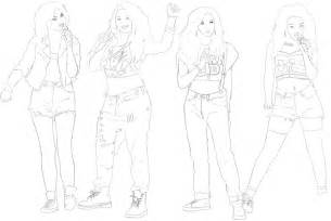 little mix line art by kikoisawesome on deviantart
