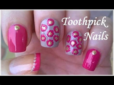 nail art tutorial using toothpick toothpick nail art tutorial 4 elegant pink gold